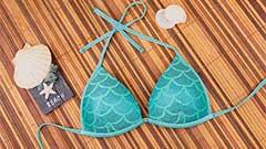 Triangel Bikini mit Push up Schale - Schnittmuster